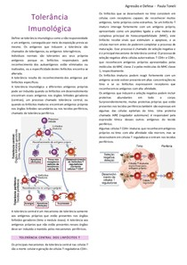 Resumo_Tolerância Imunológica