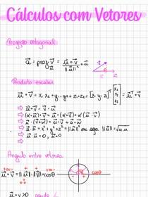 CálculoscomVetores