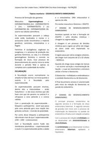 MONITORIA - EMBRIOLOGIA RESUMO