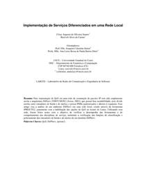 Implementação de Serviços Diferenciados em uma Rede Local