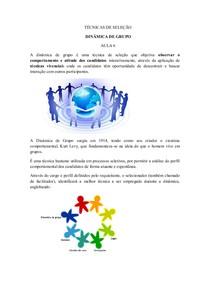 aula 6 a 10 TÉCNICAS DE SELEÇÃO