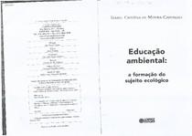 Educação Ambiental   a formação do sujeito ecológico