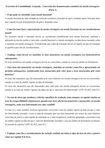 Exercícios de Contabilidade Avançada Conversão das demonstrações contábeis em moeda estrangeira (Parte 2)