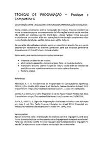 TÉCNICAS DE PROGRAMAÇÃO Pratique e Compartilhe 4