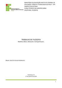 Malditos (Marx, Nietzsche e Schopenhauer)