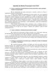 1- Teoria Geral do Processo - Questionário