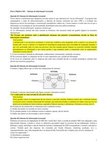 Prova Objetiva  -  Comunicação Organizacional e Sistemas de Informações Gerenciais (UNINTER)