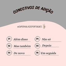 Conectivos que exprimem Adição para a redação.