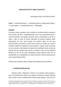 ARTIGO CIENTÍFICO - ABANDONO AFETIVO - KAREN R A C R S