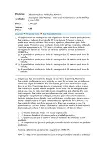 ADIMINISTRAÇÃO DA PRODUÇAO III