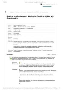 AOL 4 Microbiologia e Imunologia