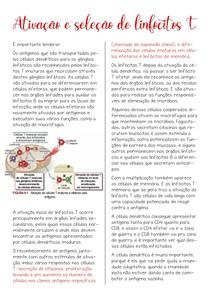 Ativação e seleção de linfócitos T