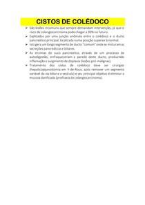 CISTOS DE COLÉDOCO