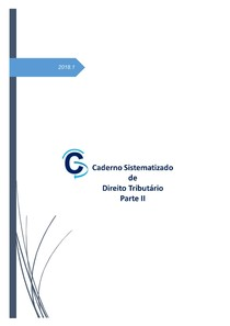 Caderno Sistematizado de Direito Tributário - Parte II (2018)