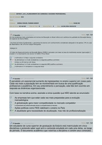 PLANEJAMENTO DE CARREIRA E SUCESSO PROFISSIONAL AV1