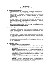 Microbiologia Endodôntica - Microbiologia II