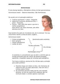 Actinomicose (ESTOMATOLOGIA)