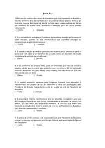 EXERCÍCIO CONSTITUCIONAL II