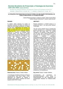 1. ALTERAÇÕES POSTURAIS EM ATLETAS DE FUTEBOL DE UMA EQUIPE PROFISSIONAL NA 1