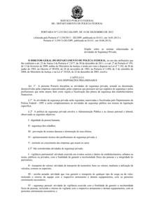 PORTARIA Nº 3 2332012-DGDPF, DE 10 DE DEZEMBRO DE 2012