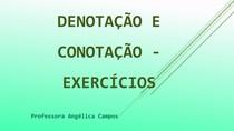 Denotação e Conotação - Exercícios