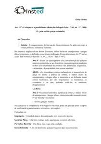 Resumo - Anistia, graça ou indulto - Direito Penal II