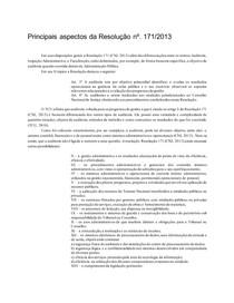 Principais aspectos da Resolução n171_2013