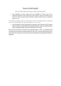 QUESTIONÁRIO | Processo civil | competência