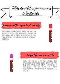 Tubos de coletas de sangue