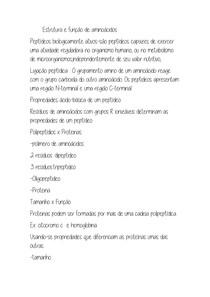 Estrutura e função de aminoácidos