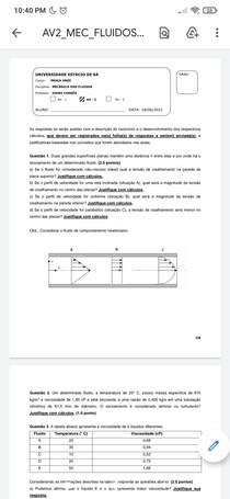 Av2 mecanica dos fluidos