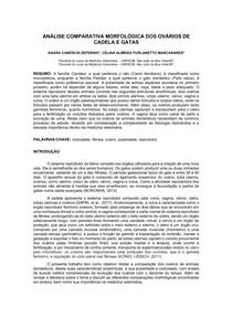 REVISÃO BIBLIOGRÁFICA - ANÁLISE COMPARATIVA MORFOLÓGICA DOS OVÁRIOS DE CADELA E GATAS