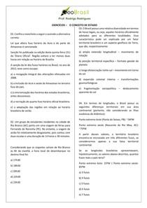 Exercícios Geobrasil - FUSO BRASILEIRO