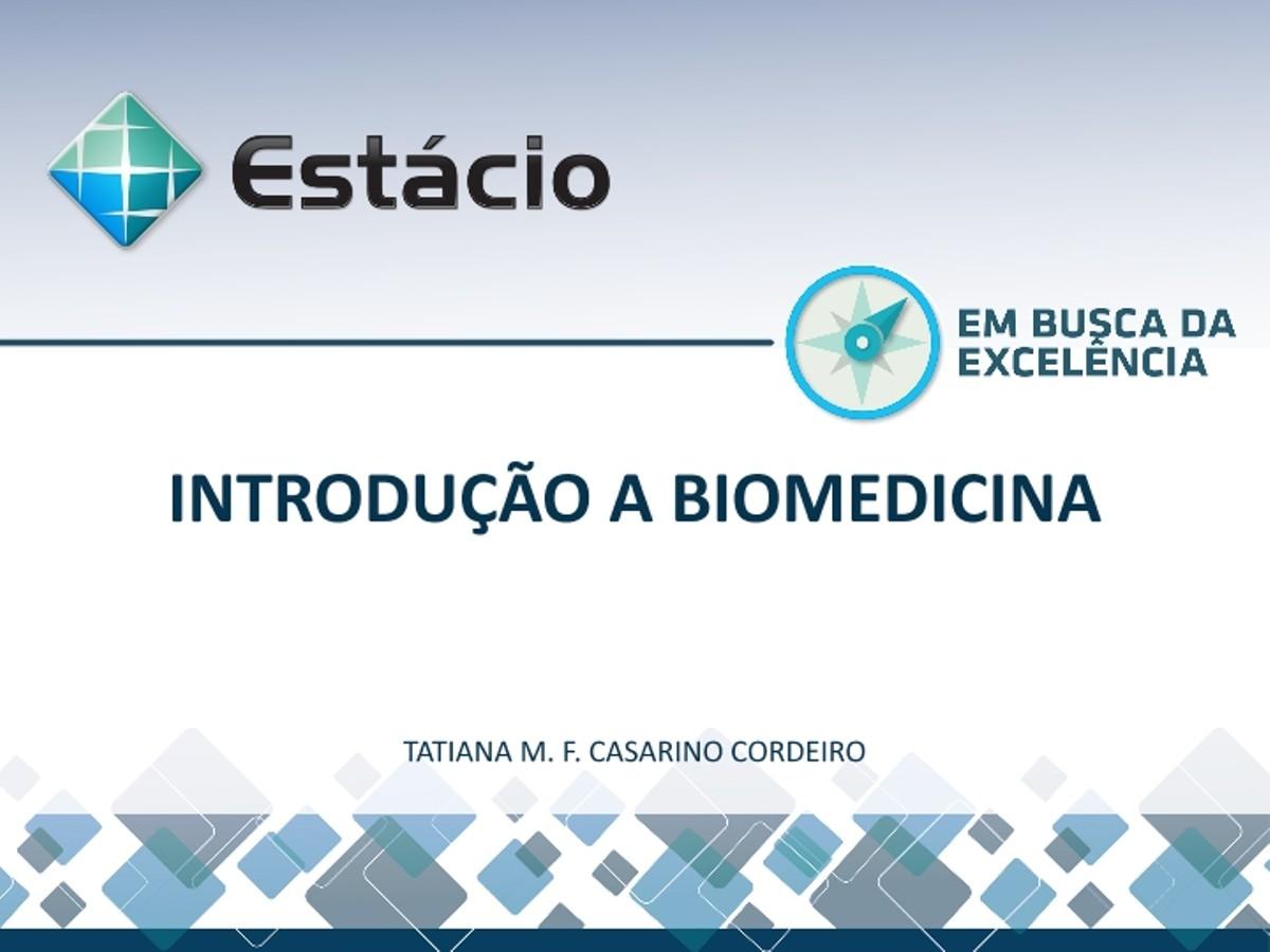Pre-visualização do material aula1 introduçao a biomedicina - página 1