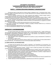 Administracion De Los Recursos Humanos Lect 2 Chiavenato