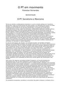 Fernandes, Florestan   PT em Movimento