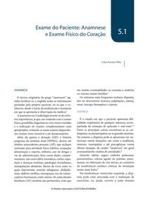 5.1. Exame do Paciente   Anamnese e Exame Físico do Coração