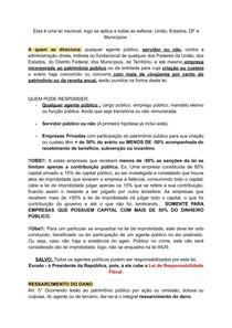 LEI 8429/92 : Improbidade Administrativaé