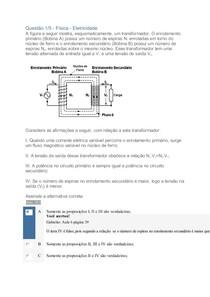 Apol 05 Fisica Eletricidade nota 100
