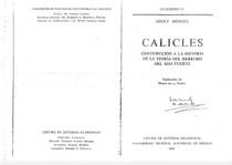 Adolf Menzel Calicles Contribución A La Historia De La Teo 19