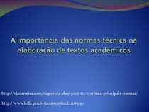 A importância das normas técnica na elaboração de textos