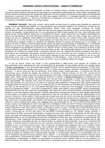 História Quinto Constitucional