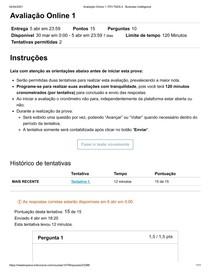 Avaliação Online 1_ FEV TADS 4 - Business Intelligence