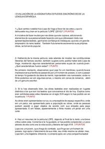 I EVALUACIÓN DE ESTUDIOS DIACRÓNICOS DEL ESPAÑOL
