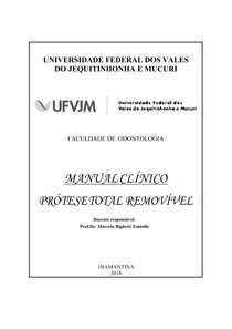 APOSTILA CLÍNICA COMPLETA - PRÓTESE TOTAL REMOVÍVEL
