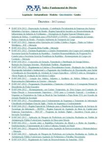DJi - Decretos - Extras - 2012