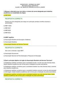 EXERCÍCIOS - NORMAS DA ABNT