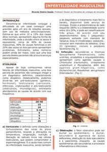 Uma frequência varicocele causa infertilidade que com