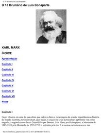 Karl Marx - O 18 Brumário De Luís Bonaparte