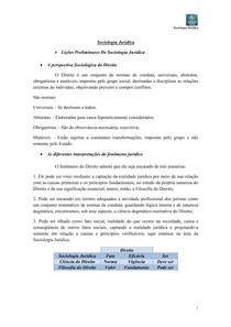 Anotações de Sociologia Jurídica